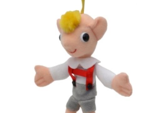 Czech Toy: Puppet Hurvinek with snap hook