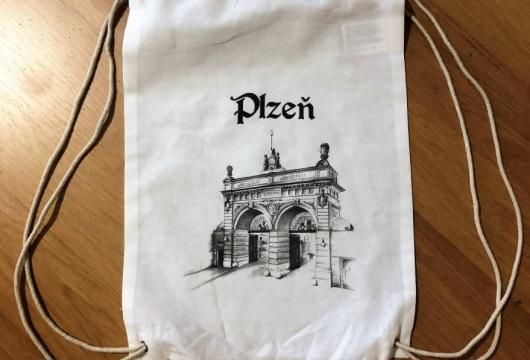 Pilsen Sightseeing: ECO Drawstring Bagpack - PILSNER URQUELL