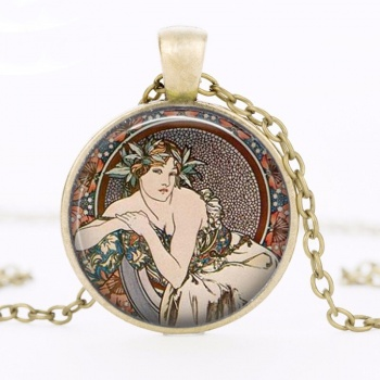Art Nouveau Jewellery by Alfons Mucha: Women´s Necklace - 1 in BRONZE