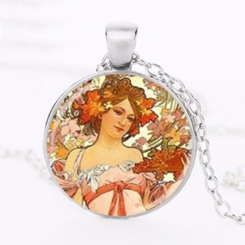 Art Nouveau Jewellery by Alfons Mucha: Women´s Necklace - 8 in SILVER
