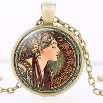Art Nouveau Jewellery by Alfons Mucha: Women´s Necklace - 9 in BRONZE