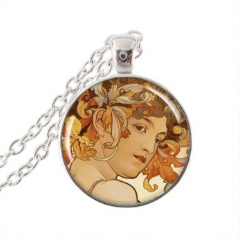 Art Nouveau Jewellery by Alfons Mucha: Women´s Necklace - 11 in SILVER