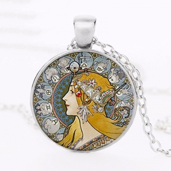 Art Nouveau Jewellery by Alfons Mucha: Women´s Necklace - 4 in SILVER