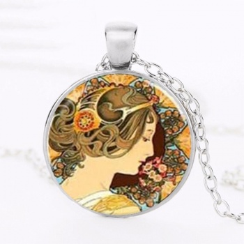 Art Nouveau Jewellery by Alfons Mucha: Women´s Necklace - 5 in SILVER