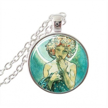 Art Nouveau Jewellery by Alfons Mucha: Women´s Necklace - 6 in SILVER