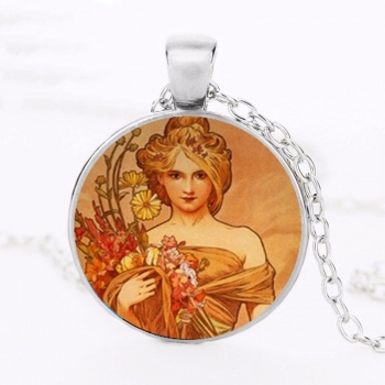 Art Nouveau Jewellery by Alfons Mucha: Women´s Necklace - 7 in SILVER