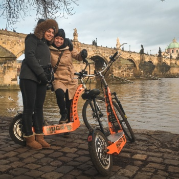 Electric scooters Tour in the Czech Republic: Prague City Center
